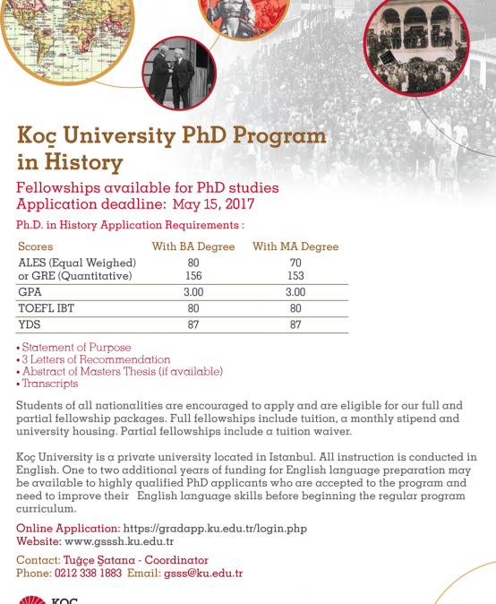History Ph.D. Program Now Accepting Applications