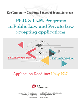 PhD and LLM Program in Private and Public Law Now Accepting Applications