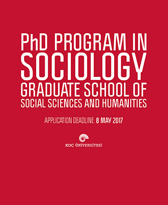 Application deadline for Sociology PHD Program is May 8th